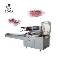 China BG-450W Electrical driven OPP film packed with gusset in tray vegetable packing machine on sale