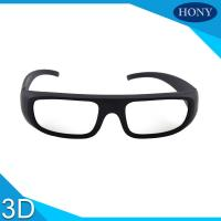 China Movie Theatre Glasses 3D Passive Washable Anti Scratch Thick Circular Polarized Lens on sale
