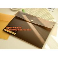 PP Polypropylene Plastic Office Stationery, PP Translucent plastic button document file folder bag with line structure Manufactures