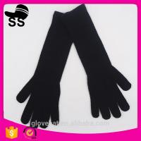 Yiwu Wholesale Hot-selling Outdoor Black Stars Buttons 57g 8.5*33cm 95%acrylic 5%spandex  Long Winter Knitting Gloves Manufactures