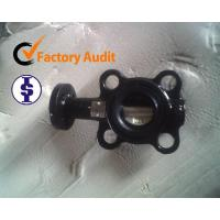Wafer butterfly valve With worm actuated