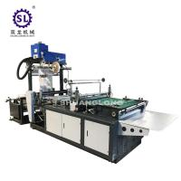 LDPE Side Sealing DHL Courier Bag Making Machine With Hotmelt Glue Device Manufactures
