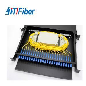 Distribution Patch Panel Fiber Optic Terminal Box 24 48 96 Ports LC SC 19' Rack Mount Manufactures