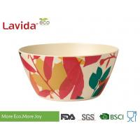 China Decal Bamboo Mixing Bowl Set 7-PC High Temperature Tolerance With Fork Spoon on sale