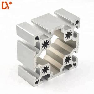 China Customized Aluminium Extruded Sections 100100 Square T Slot Aluminum Extrusion Profiles on sale