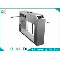 304 Stainless Access Control System Automatic Turnstile Waist Height Turnstile