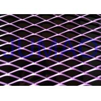 China Exterior Decorative Architectural Expanded Metal Rhombic Shaped Mesh Panel on sale