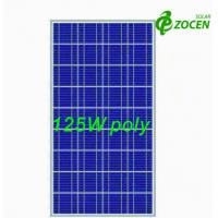 Cheap 125W 18Volt Polycrystalline Solar Panels with 36 156 x 156 Poly Crystalline Solar Cells for sale