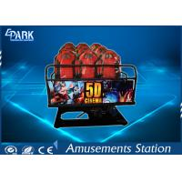 Truck Mobile Electronic 5D Movie Theater Simulator 2 Epson Projectors 6 Seats Manufactures