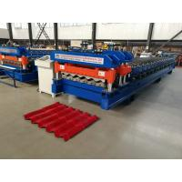 Buy cheap Servo Motor Glazed Tile Roll Forming Machine 4 Meter / Min With 18 Rows from wholesalers