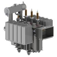 Three Dimensional Oil Type Transformer , Triangular Core Industrial Power Transformer Manufactures