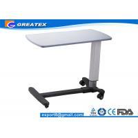 Medical Movable Adjustable hospital bedside tables with Wheels for Clinic , Home Manufactures