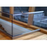 Prima Building Frameless Glass Railing System 850mm-1067mm Post Height , U Channel Profile Manufactures
