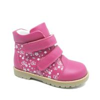 Children genuine leather boots orthopedic spring autumn shoes for girls Manufactures