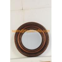 Quality FR-16720 Antique Style Wall Decorative Round Resin Framed Mirror for sale
