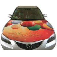 Merry Christmas Theme Car Hood Covers Digital Colorful Printing Car Hood Flags Manufactures