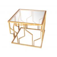 Reasonable Price Quality Assured Fashion Design Metal Framed Tempered Glass Top Decorative  Coffee Table Manufactures