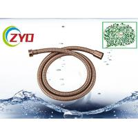 Bronze Plated Dark Copper Color 1.5m Bathtub Shower Hose Double Lock With Brass Screw Manufactures