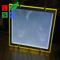 Cool White 8000K LED Crystal Light Box Cable Hanging Store Display Sign Manufactures
