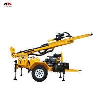 TWD200 Full Hydraulic Rock Diesel Engine Trailer Mounted Drill Rig Manufactures