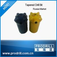 32mm-40mm tapered button drill bit for Russia market Manufactures