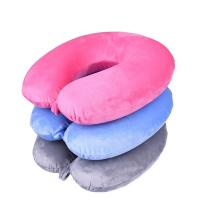 Fashion u shaped pillow travel pillow memory foam neck pillow with buton Manufactures