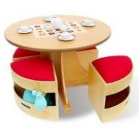 Circular Table with 4 Padded Stools Manufactures