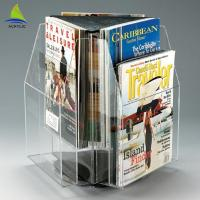 360 Degrees Rotating Clear Display Countertop Clear Acrylic Paper Holder Manufactures