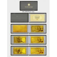 Full Set Of South African 24K Gold Banknote In Pure 99.9 Gold With Album Collectable Manufactures