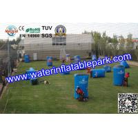 Blue Inflatable Paintball Bunker , 0.6mm  / 0.9mm PVC Airups Bunkers Manufactures