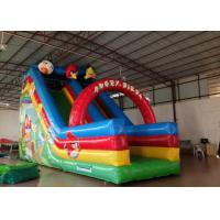 Inflatable Angry Bird Toddler Water Slide , Attractive Jumping Castle Water Slide Manufactures