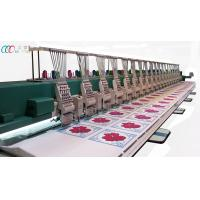20 Heads Commercial Embroidery Equipment , Mixed Chenille And Flatbed Embroidery Manufactures