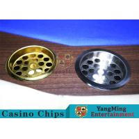 Copper Color Poker Table Accessories , Windproof Stainless Steel Ashtray Manufactures