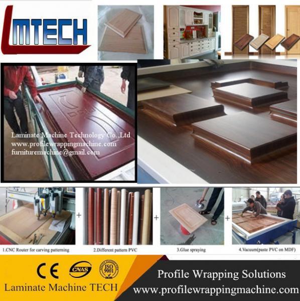 pvc door outdoor wood cabinets vacuum membrane press machine