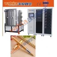 PVD Gold Plating Machine on Pen, TiN Vacuum Coating Equipment Heat Resistant Manufactures