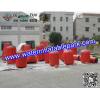 Magical Inflatable Paintball Bunkers , PVC Tarpaulin Laser Tag Bunkers Manufactures