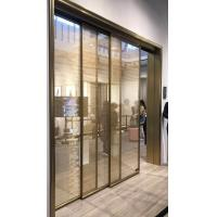 Quality Sliding Door of Metal Coated Polyester Mesh Glass Laminate for sale