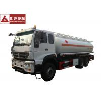 6x4 Fuel Oil Truck , Safe Driving Gasoline Delivery Truck Full Air Suspension System Manufactures