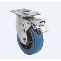 SUS304 Stainless Steel PU Caster Wheel Heavy Duty Dual Ball Heat Treated Raceways Manufactures