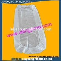 China Durable Disposable Fitted Bed Sheets , Elastic Corner Disposable Mattress Cover on sale