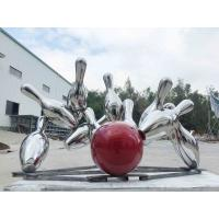 Modern Large Metal Garden Ornaments Bowling Bowl Shape Stainless Steel Manufactures