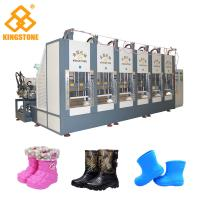 Two Stations EVA Rain Boot Making Machine With PLC Touch Screen System Manufactures