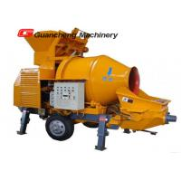 JZC350 A Sliding Hopper concrete mixer truck with pump , Large Water / Diesel concrete pump