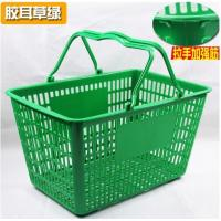China Retail Store Plastic Hand Basket / Supermarket Food Plastic Basket With Handle on sale