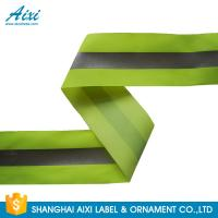 100% Polyester Ribbons Reflective Safety Tape Single Sided With Offer Printing Manufactures