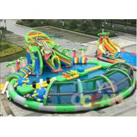 Giant Mobile Amazing Inflatable Water Park Swimming Pool With Crocodile Slide Manufactures