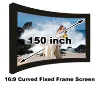 Best Seller Home Cinema Projection Screen 150 Inch Diagonal 16:9 3D Curved Fixed Screens Manufactures
