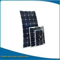 150w high eff. semi flexible solar panel / 3mm thickness solar panel flexible for boats, car or other curve surfaces Manufactures