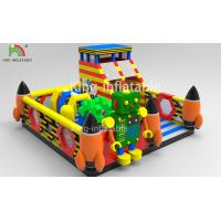 Children Inflatable Jumping Castle Robot Model With Slide 2 Year Warranty Manufactures
