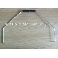 Low Carbon Steel Wire Bucket Handles 580mm The Wire Length With White Plastic Grip Manufactures